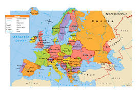 Europe And Asia Map by Large Map Of Europe Only Europe Political Map Map Tools Print