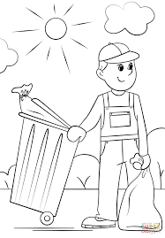 garbage collector coloring page free printable coloring pages