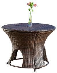 alexandria wicker outdoor storage ottoman table contemporary