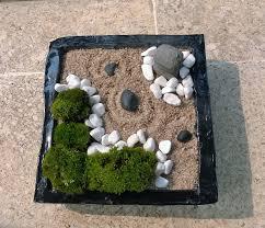 mini zen garden with nature moss cream sand u0026 white stone diy