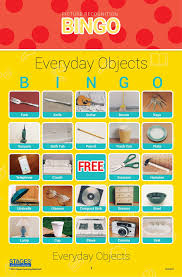 everyday object picture bingo game stages learning materials