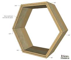 Wooden Shelves Plans by Remodelaholic Diy Geometric Display Shelves
