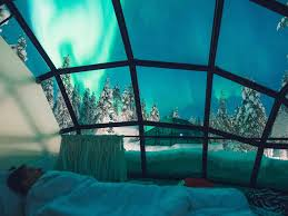 norway northern lights hotel a hotel in finland has glass igloos to watch the northern lights