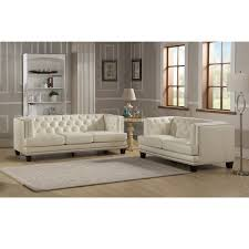 what is top grain leather sofa elle tufted premium cream top grain leather sofa and loveseat