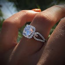 pretty engagement rings wedding rings engagement ring with wedding band favored princess