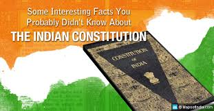lesser known interesting facts about indian constitution my india