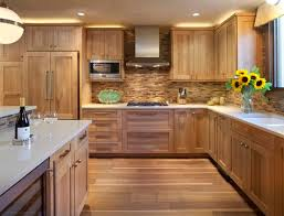Kitchen Backsplash Contemporary Kitchen Other Kitchen With Wooden Tile Backsplash Contemporary Kitchen