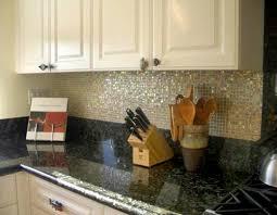 Black Granite Glass Tile Mixed Backsplash by Black Countertops With Backsplash Shimmerfly Glass Tile