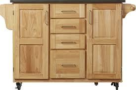 walnut wood nutmeg prestige door kitchen island with stainless