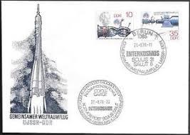 germany ddr space cover 1978 jaehn