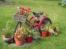Patio Beautiful garden decor ideas garden decor ideas bycycle