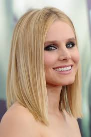 what is clavicut haircut hair envy of the day kristen bell s perfect clavicut celebrity