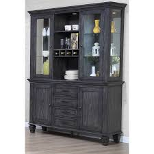 Shades Of Gray Sunset Trading Dlu El Bh Shades Of Gray China Cabinet In Weathered