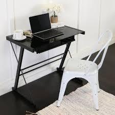 home office glasetal black computer desk walker edison