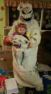 coolest oogie boogie costume with jack and sally from nightmare