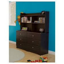 pocono kids bookcase hutch for 6 drawer dresser espresso