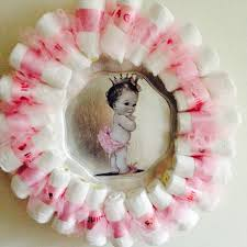 baby shower wreath ideas dreaded baby shower wreath princess1 easy letter girl