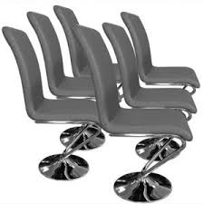 chaise simili cuir gris lot de 6 chaises simili cuir achat vente lot de 6 chaises