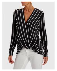 black and white striped blouse unique striped blouse with asymmetric hem black white