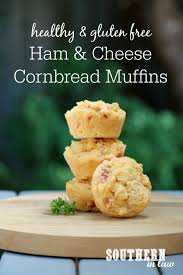 southern in law recipe savoury ham and cheese cornbread muffins