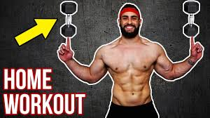 beast no dumbbell home workout build with