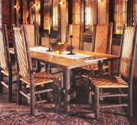 Hickory Dining Room Chairs by Rustic Dining Room Furniture