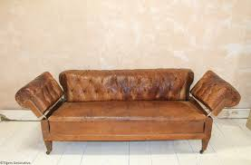 Chesterfield Sofa Antique Edwardian Double Drop End Chesterfield Sofa Antique Leather Sofa