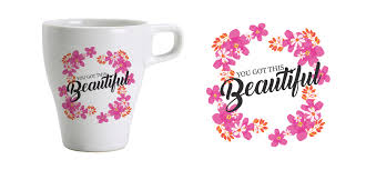 mug design feminine colorful business cup and mug design for a company by