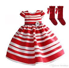 2018 Girls Christmas Dress Kids Striped Dresses For Girls Girl