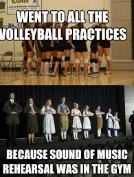 Volleyball Meme - went to all the volleyball practices because sound of music