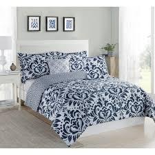 Twin White Comforter Set Studio 17 Anson Damask Navy White 5 Piece Full Queen Comforter Set