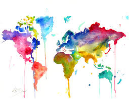 Large World Map Poster by Love The Dripping Style Wish List Pinterest Epson Inkjet