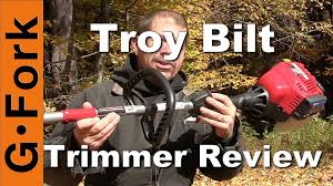 troy bilt string trimmer review gardenfork youtube