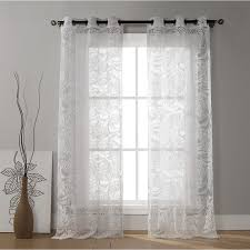White Cotton Curtains Shop Duck River Textile 84 In White Cotton Grommet Light Filtering