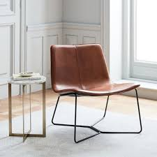 Leather Lounge Chair Slope Leather Lounge Chair West Elm