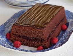 chocolate iced loaf cake with raspberry teatime magazine
