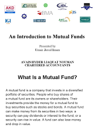 Mutual Fund Accountant Mutual Funds Mutual Funds Investing