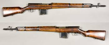 this is the svt 40 semi automatic battle rifle which saw