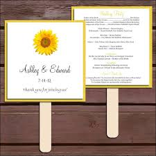 sunflower wedding programs diy sunflower wedding program search weddings events