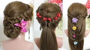 styles for long hair 3 easy hairstyles for long hair tutorial youtube