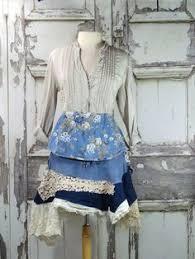 Shabby Chic Skirts by Long Denim Skirt Tattered Hippie Skirt Distressed Faded Boho