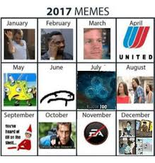 Meme Calendar - updated meme calendar of 2017 final version funpic us