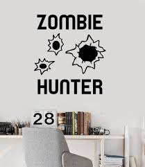 One Of A Kind Home Decor by Vinyl Wall Decal Zombie Hunter Teen Boy Room Stickers Mural