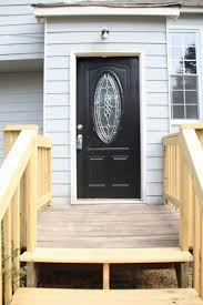 decoration beautiful black wooden front door with glass panel
