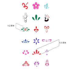 wholesale small flower tattoos for eyebrows forehead women