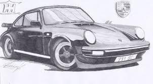 porsche cartoon drawing drawn car porsche 911 pencil and in color drawn car porsche 911