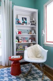 pretty rocking chair nursery in kids modern with floating