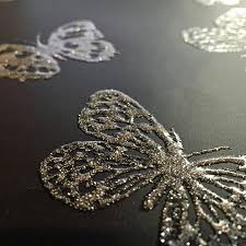 glitter wallpaper with butterflies where to buy glitter wallpaper inspiration design tbwp