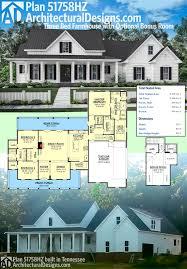 plan 51758hz three bed farmhouse with optional bonus room