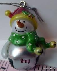 blank no name ganz snowman jingle bell ornament jingle bells